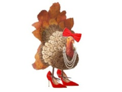Thanksgiving turkey in red shoes